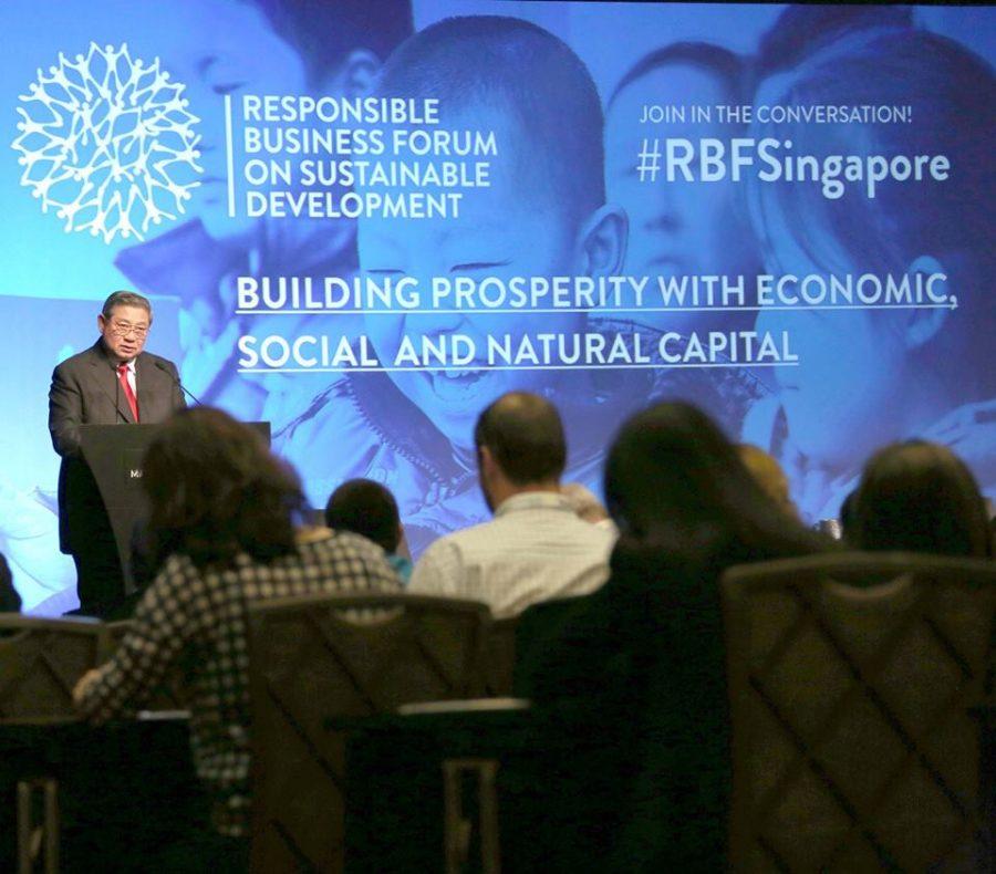 SBY Berbagi Pengalaman di Hadapan 600 Pemimpin Dunia di Singapura