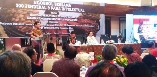 Resmi, 300 Jenderal Nyatakan Dukungan Ke Prabowo-Sandi