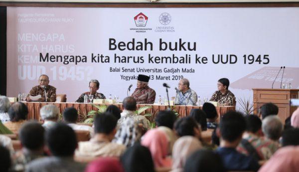 Dewan Guru Besar UGM : Naskah Asli Konstitusi RI Harus Dipertahankan