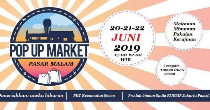 POP UP MARKET, Konsep Bazar Pasar Malam UMKM PKT Kecamatan Senen