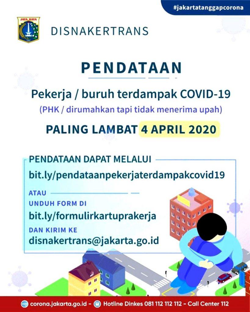 Pendataan Kartu Prakerja oleh Disnakertrans DKI Jakarta
