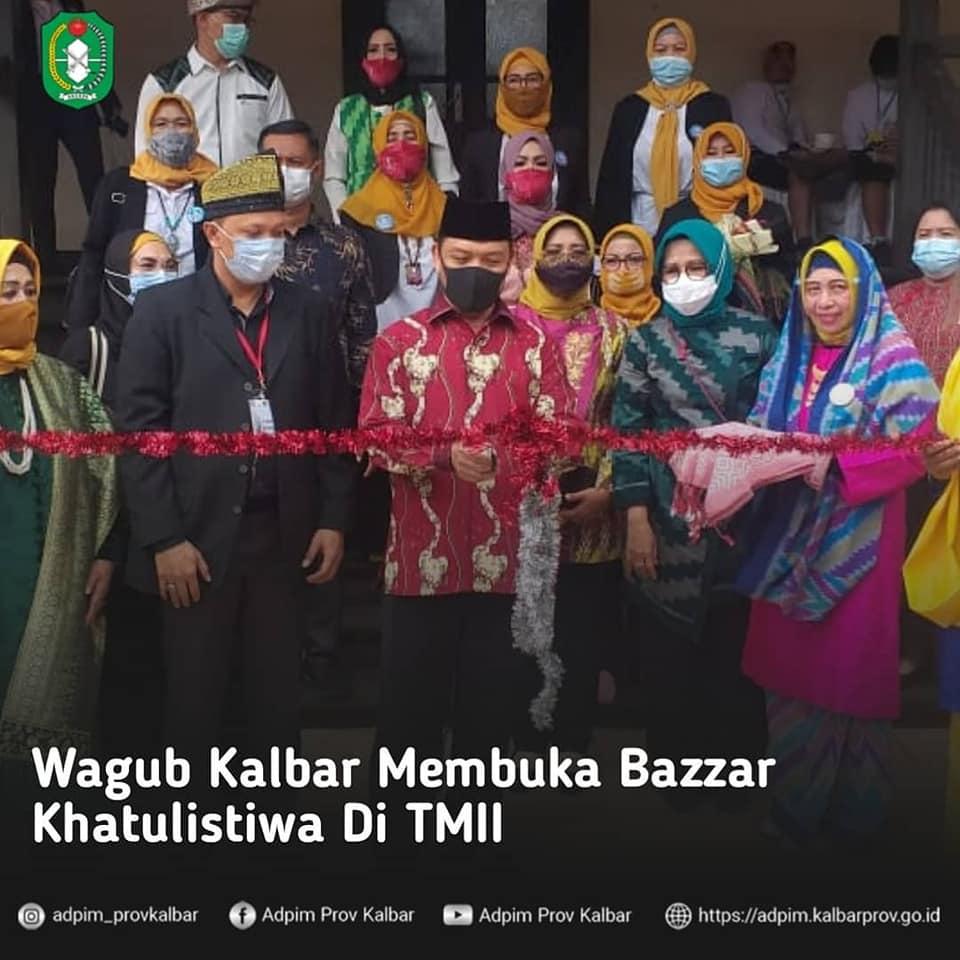 Wagub Kalbar Resmikan Bazar Khatulistiwa Di TMII Jakarta